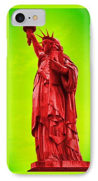Pop Art Liberty IPhone Case by Mike McGlothlen