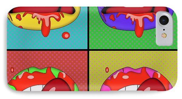 Pop Art Lips  IPhone Case by Mark Ashkenazi