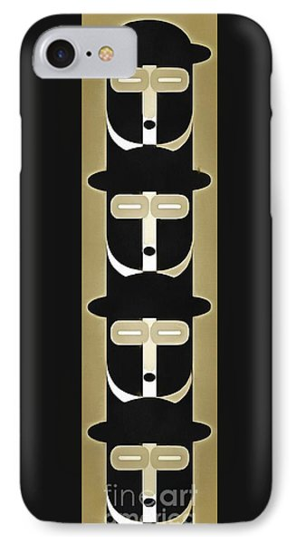 Pop Art People Totem 5 IPhone Case by Edward Fielding
