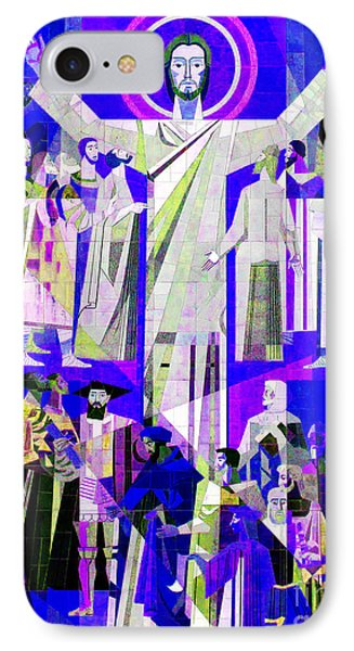 Pop Art Touchdown Jesus Mural At N D U Main Library Phone Case by Tina M Wenger