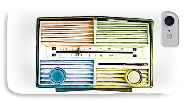 Pop Art Vintage Radio IPhone Case by Edward Fielding