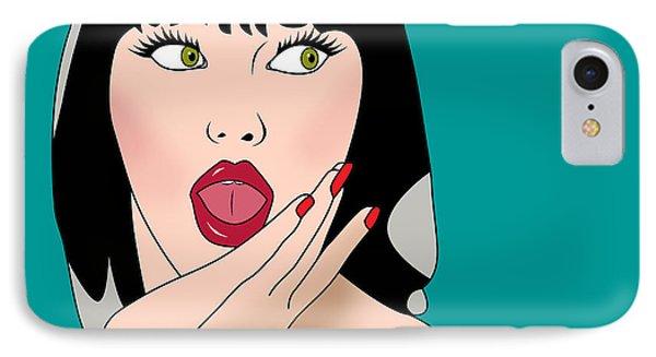 Pop Art Woman  IPhone Case by Mark Ashkenazi