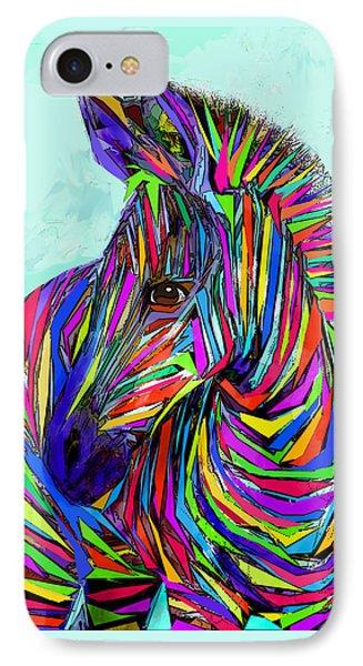 Pop Art Zebra IPhone Case by Jane Schnetlage