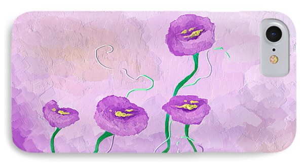 Pop Of Purple IPhone Case by Brenda Bryant