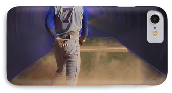 Pop Slide At Third Base Phone Case by Thomas Woolworth