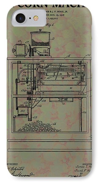 Popcorn Machine Patent IPhone Case by Dan Sproul