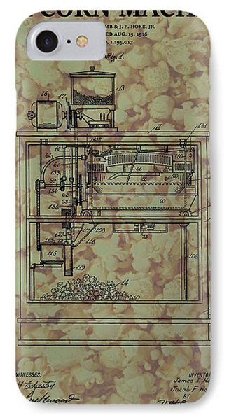 Popcorn Machine Poster IPhone Case by Dan Sproul