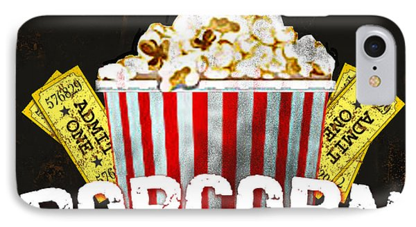 Popcorn Please IPhone Case by Jean Plout