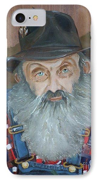 Popcorn Sutton - Moonshiner - Portrait IPhone Case by Jan Dappen