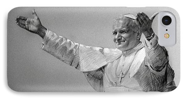 Pope John Paul II Bw IPhone Case