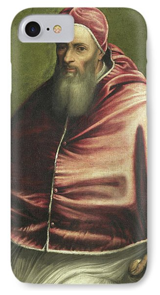 Pope Julius IIi Formerly Entitled Pope Paul IIi IPhone Case by Litz Collection
