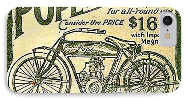 Pope Motorcycle Advertisement  IPhone Case
