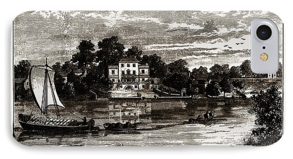 Popes House, Uk, Engraving 1881 - 1884, Alexander Pope IPhone Case by Litz Collection