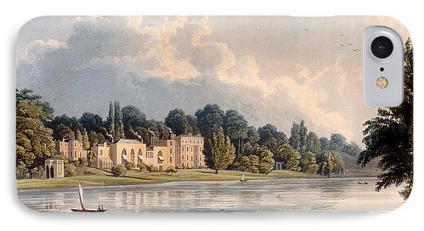 Popes Villa At Twickenham, 1828 IPhone Case by William Westall