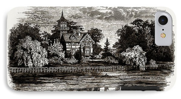 Popes Villa, Uk, Engraving 1881 - 1884, Alexander Pope IPhone Case by Litz Collection
