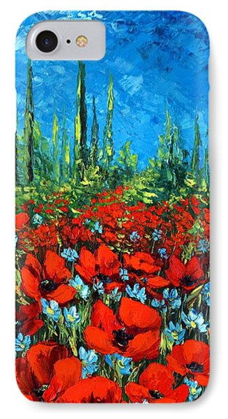 Poppie Field IPhone Case by Katia Aho