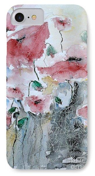 Poppies 01 Phone Case by Ismeta Gruenwald