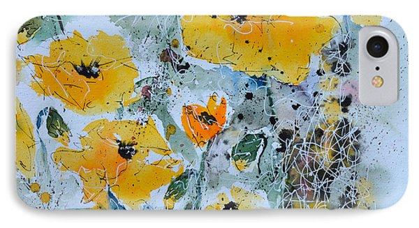 Poppies 02 Phone Case by Ismeta Gruenwald