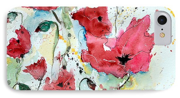 Poppies 05 Phone Case by Ismeta Gruenwald