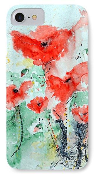 Poppies 06 Phone Case by Ismeta Gruenwald