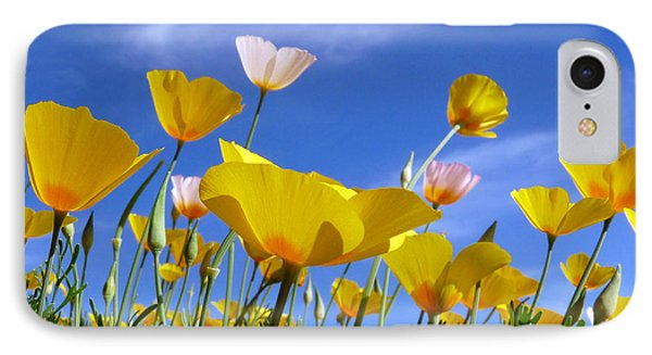 Poppies And Blue Arizona Sky IPhone Case by Lucinda Walter