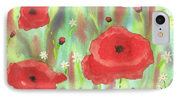 Poppies And Daisies Phone Case by John Williams