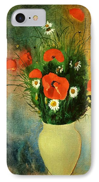 Poppies And Daisies Phone Case by Odilon Redon