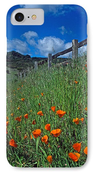 Poppies And The Fence Phone Case by Kathy Yates
