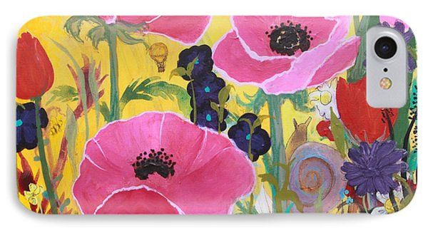 Poppies And Time Traveler IPhone Case