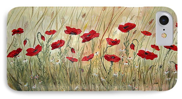 IPhone Case featuring the painting Poppies And Wild Flowers by Dorothy Maier