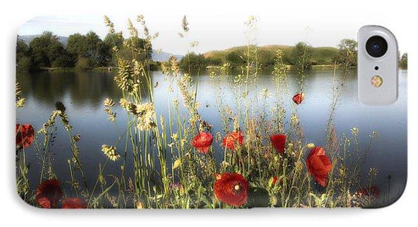 Poppies At Lake IPhone Case