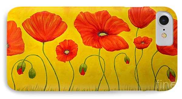 Poppies At The Time Of IPhone Case by Veikko Suikkanen