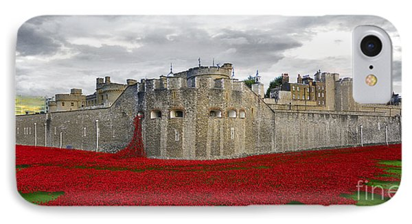 Poppies At The Tower Of London IPhone Case by J Biggadike