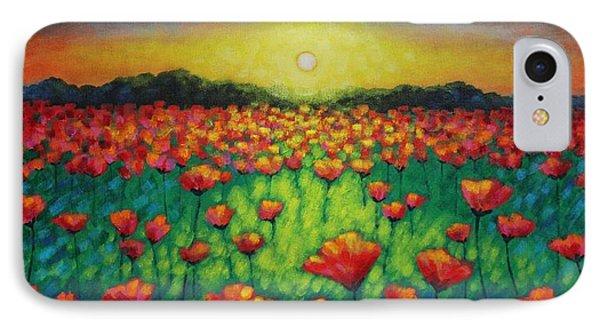 Poppies At Twilight Phone Case by John  Nolan