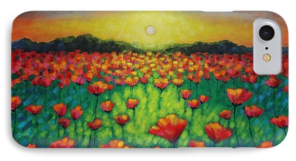 Poppies At Twilight IPhone Case by John  Nolan