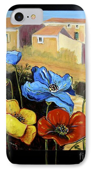 Poppies Citiscape IPhone Case