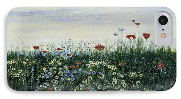 Poppies, Daisies And Other Flowers IPhone Case by Andrew Nicholl