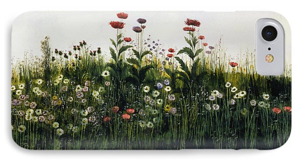 Poppies, Daisies And Thistles IPhone Case