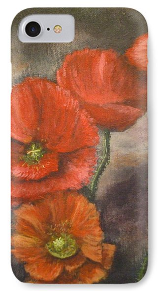 IPhone Case featuring the painting Poppies by Dan Wagner