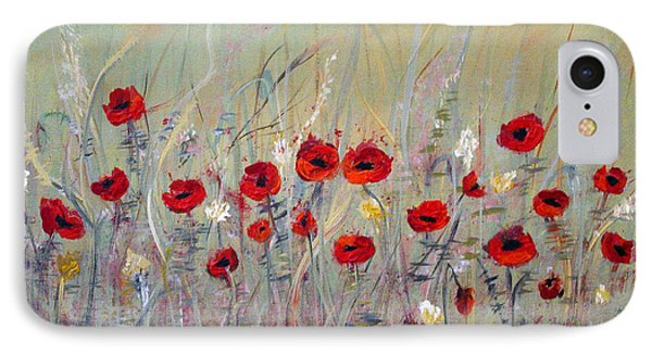 IPhone Case featuring the painting Poppies by Dorothy Maier