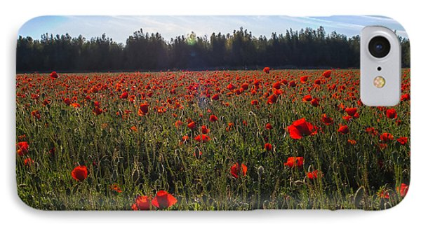 Poppies Field Forever IPhone Case by Meir Ezrachi