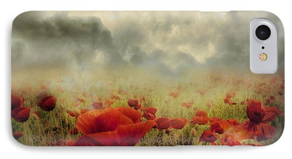 Poppies From Heaven - Vintage IPhone Case by Georgiana Romanovna