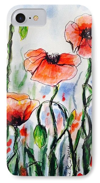 Poppies Garden  IPhone Case