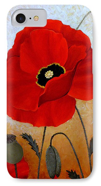 Poppies I Phone Case by Deyana Deco
