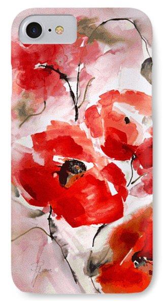 Poppies I Phone Case by Hedwig Pen