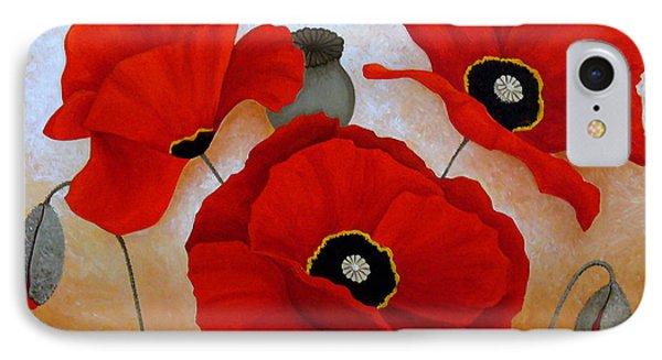 Poppies II Phone Case by Deyana Deco