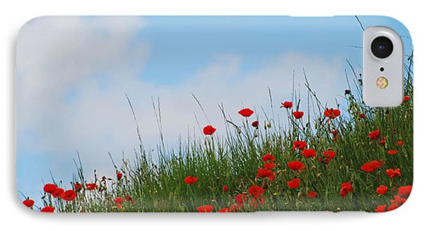Poppies In A French Landscape IPhone Case by Ankya Klay