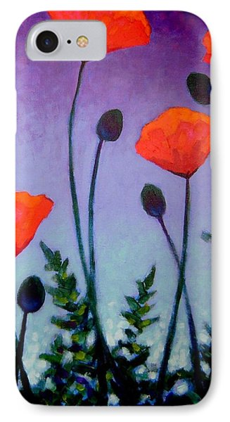 Poppies In The Sky II IPhone Case by John  Nolan