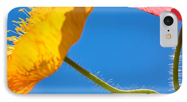 Poppies In The Sky IPhone Case by Joan Herwig