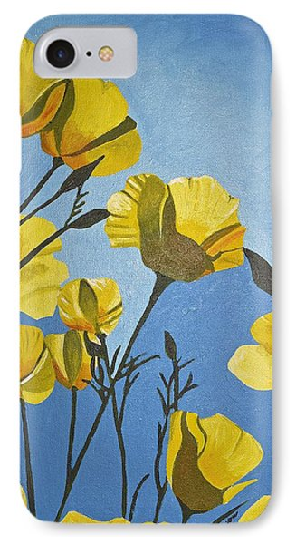 IPhone Case featuring the painting Poppies In The Sun by Donna Blossom